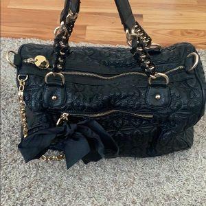 Deux Lux black tote handbag